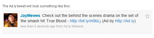 Example of an Ad.ly Tweet