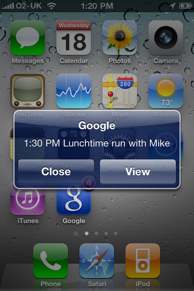 Google Mobile with Notifications