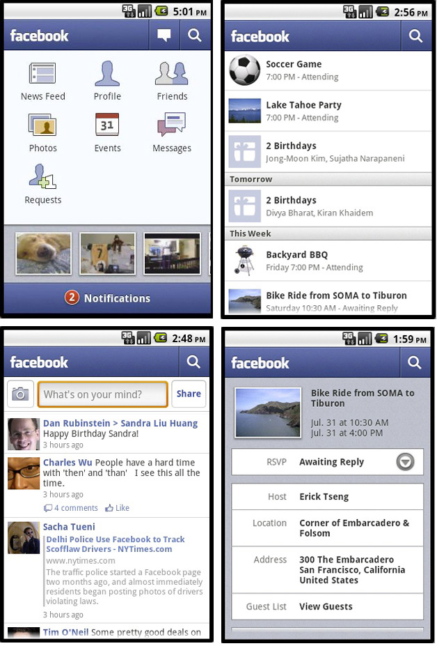 New Facebook Android App