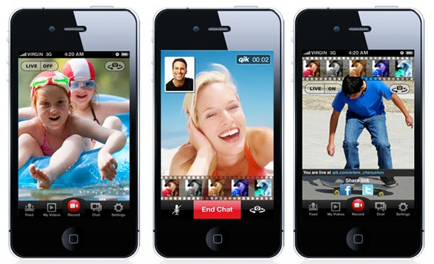 Qik Video Connect for iPhone app - Launched at SXSW