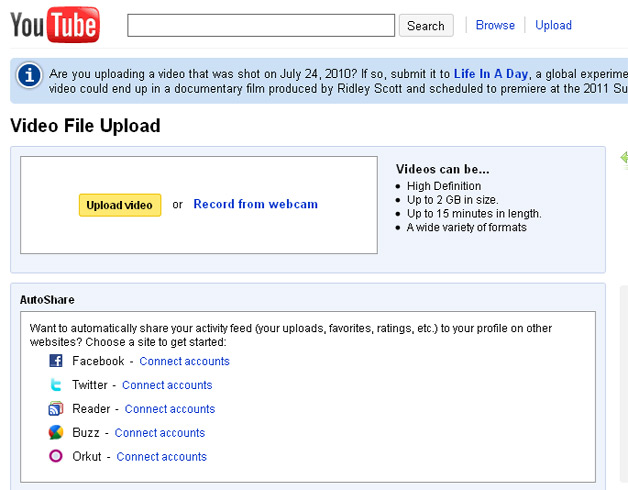 YouTube Upload Time Increased